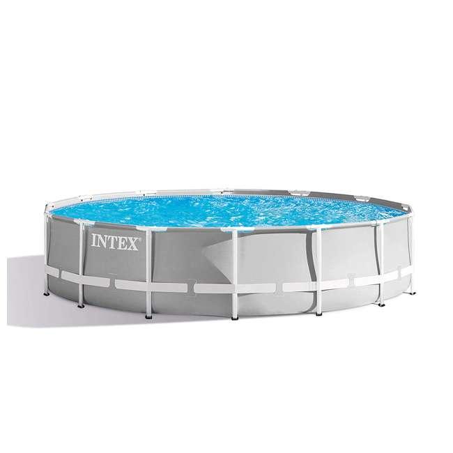 26719EH + 28620E Intex Above Ground Swimming Pool Set & Handheld Vacuum  1