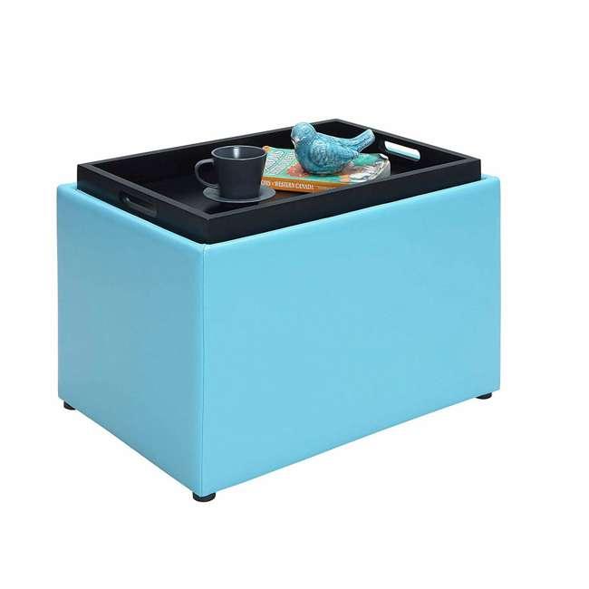 R8-159 Convenience Concepts R8-159 Designs4Comfort Accent Storage Space Ottoman, Teal 3