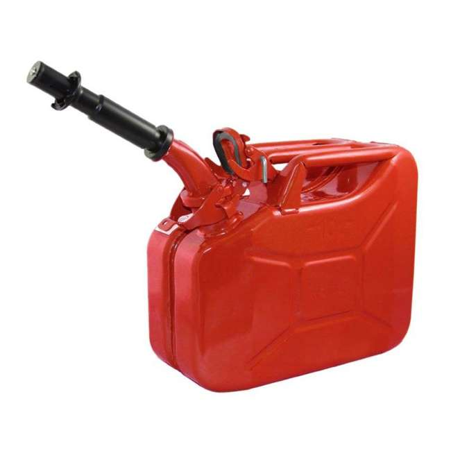 4 x 3013-WAV Wavian 2.6 Gallon Gasoline Fuel Jerry Can, Red (4 Pack) 1