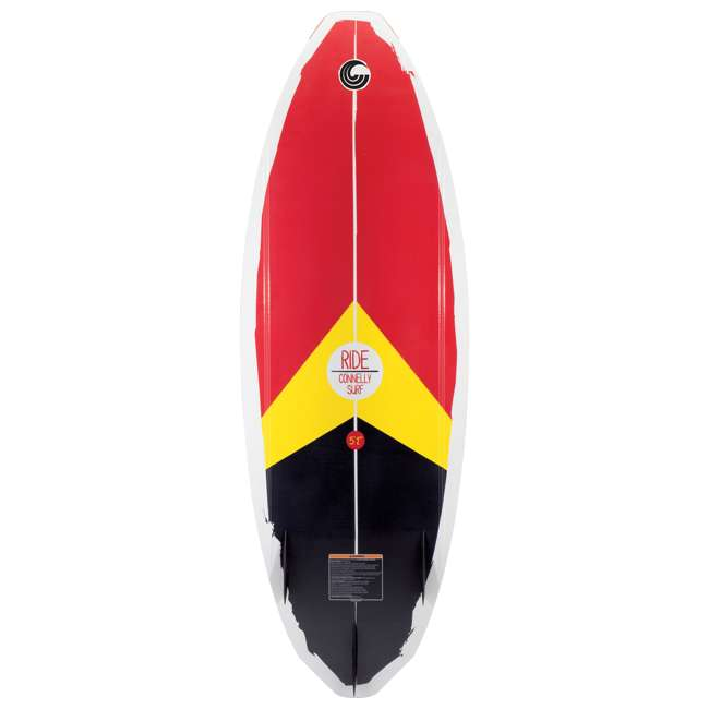 62184171-CON CWB Heavy Duty Extra Grip Connelly Ride Wakesurf Board & Tail Fins for Beginners 1