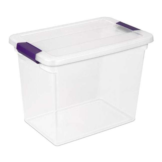 24 x 17631706-U-A Sterilite 27-Quart ClearView Latch Box Storage Tote Container - Single (24 Pack)