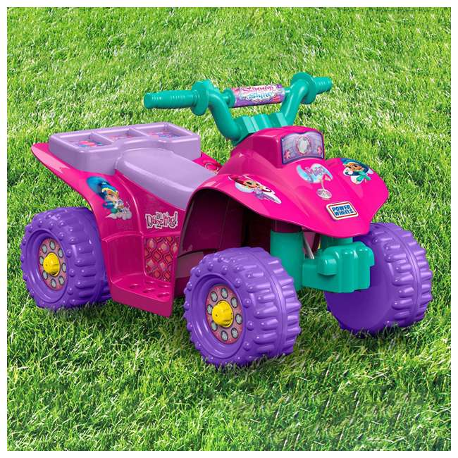 Fisher price power wheels shimmer and shine lil 39 quad atv for Fisher price motorized cars