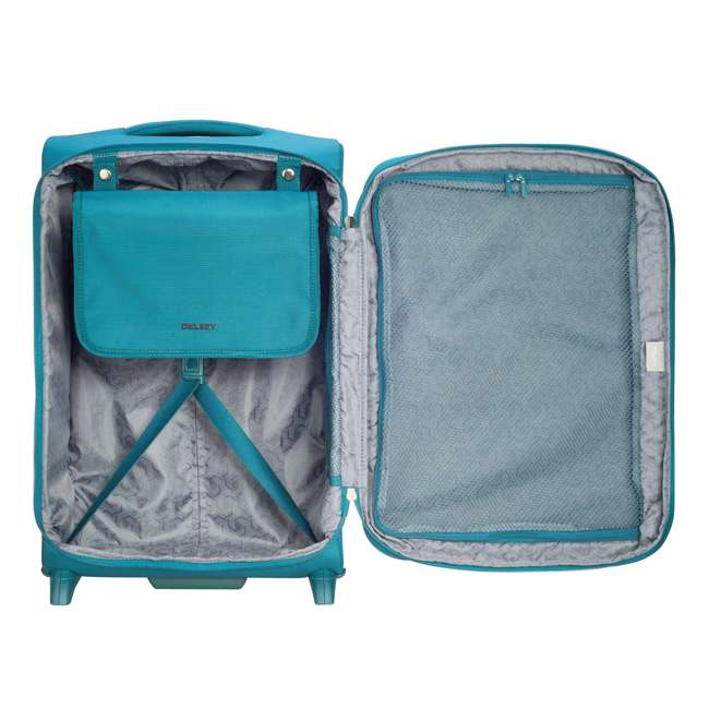 """40229172032 DELSEY Paris 2 Wheel Spinner Upright 20"""" Hyperglide Carry On Travel Case, Teal 2"""