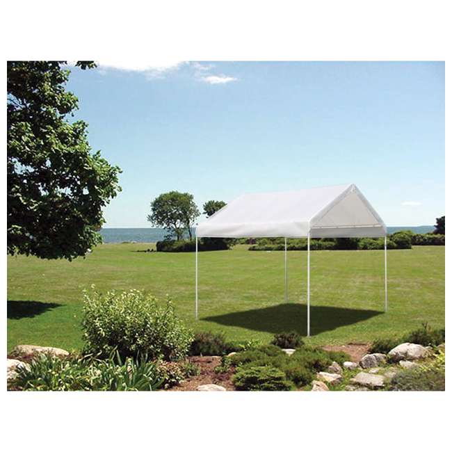 23521 ShelterLogic 10 x 10 Feet Rip Resistant Max AP Canopy with Twist Tie Tension 2
