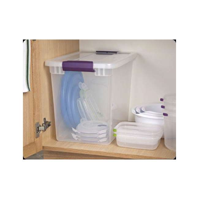 24 x 17631706-U-A Sterilite 27-Quart ClearView Latch Box Storage Tote Container - Single (24 Pack) 4
