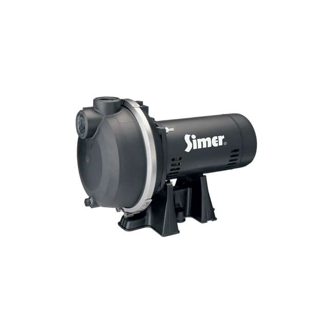 3420P-U-A Simer 2 Horsepower Submersible In Ground Sprinkler System Water Pump (Open Box)
