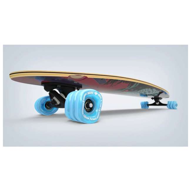 "T8-3022 + 08057-SHARK Triple 8 Dual Certified Skate & Bike Helmet S/M, Blue + Fathom Shark Wheel Pintail 39"" Longboard 8"