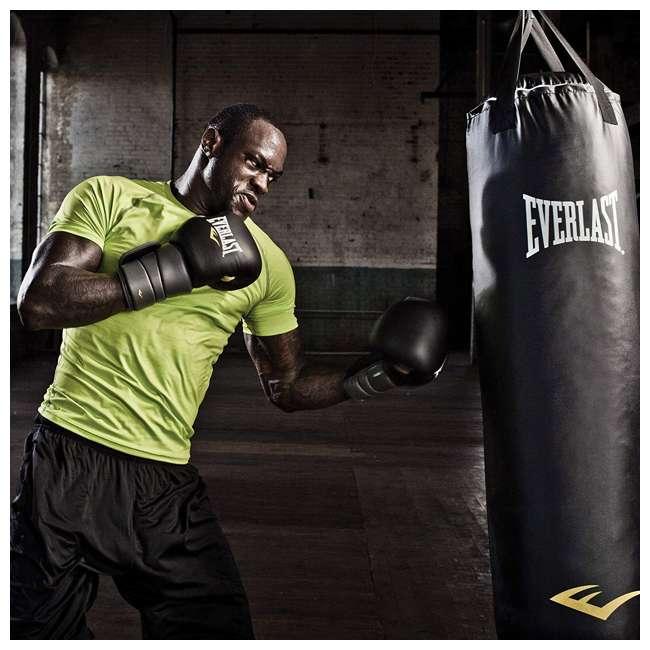P00001268-U-B Everlast Nevatear Workout 60 Pound Heavy Boxing Punching Bag, Platinum (Used) 1