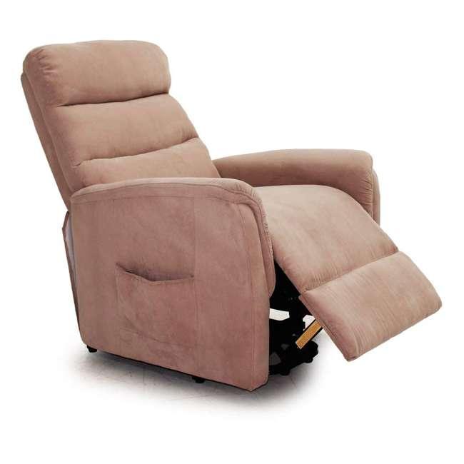 L6115F51-Mocha Lifesmart Ultra Comfort Fitness Lift Chair with Heat, Massage and Remote 1