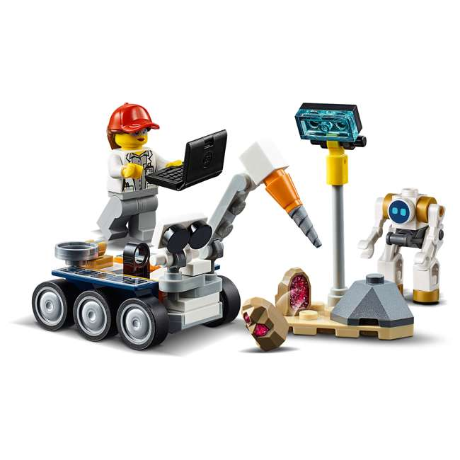 6251738 LEGO City Rocket Assembly & Transport 1055 Piece Building Kit w/ 7 Minifigures 6