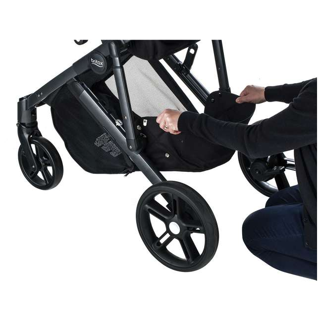 U911905 Britax U911905 B Ready G3 Folding Reclining Travel Canopy Baby Stroller, Black 5