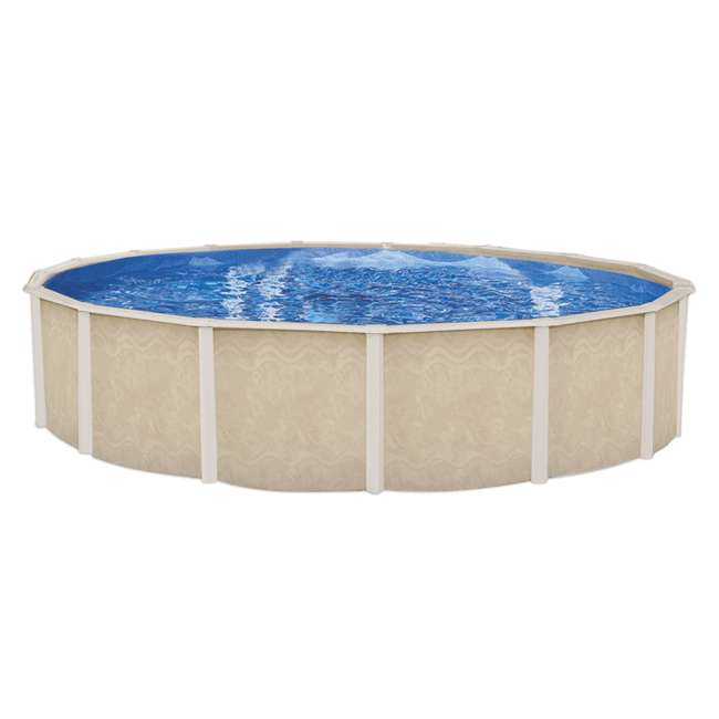 5-4624-110-52D 24ft x 52in Fiesta Key Round Steel and Copper Frame Above-Ground Pool