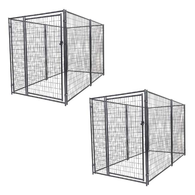 CL 66150 Lucky Dog Large Modular Welded Wire Box Indoor/Outdoor Kennel 10'x5'x6' (2 Pack)