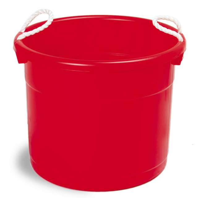 6 x 8119RD-6 Continental Commercial Huskee Hauler 19-Gallon Bucket (6 Pack) 1