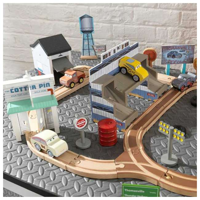 KDK-18015-U-A Kidkraft Disney Pixar Cars 3 50 Piece Thomasville Speedway Track Set (Open Box) 2