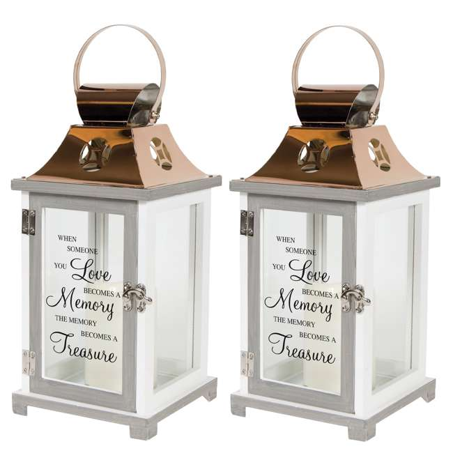 57436 Carson Home Accents 185955 Flameless Candle Lantern (2 Pack)
