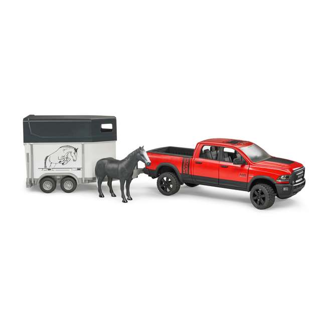 02501-BR Bruder Toys RAM 2500 Power Wagon Truck Toy with Horse & Trailer