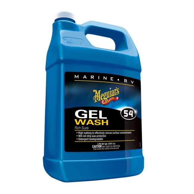M5401 Meguiar's Marine RV Rich Suds Gel Wash 1 Gallon Liquid Bottle, Blue
