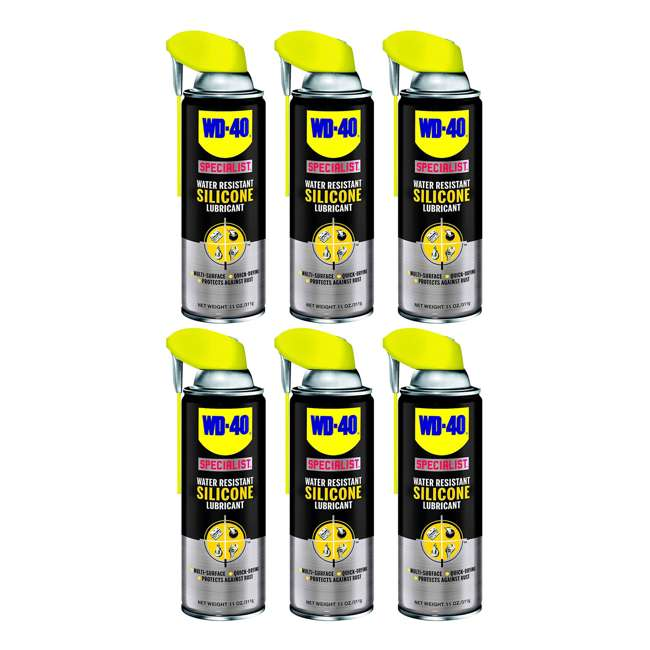 6 x WD-300012 WD-40 Specialist Water Resistant Silicone Lubricant (6 Pack)