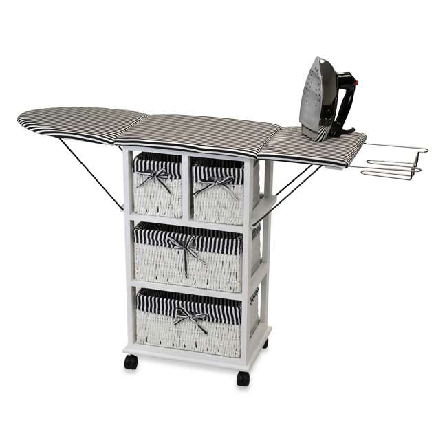 NX-904-U-C SpaceMaster 29 Inch Metal Ironing Board and Laundry Sorting Station (For Parts)