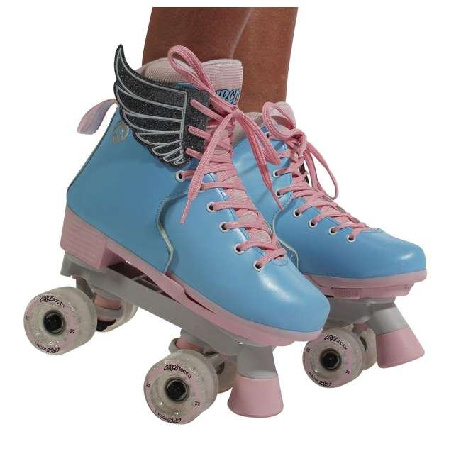 168260 Circle Society Classic Cotton Candy Kids Skates, Girls Sizes 12 to 3 7