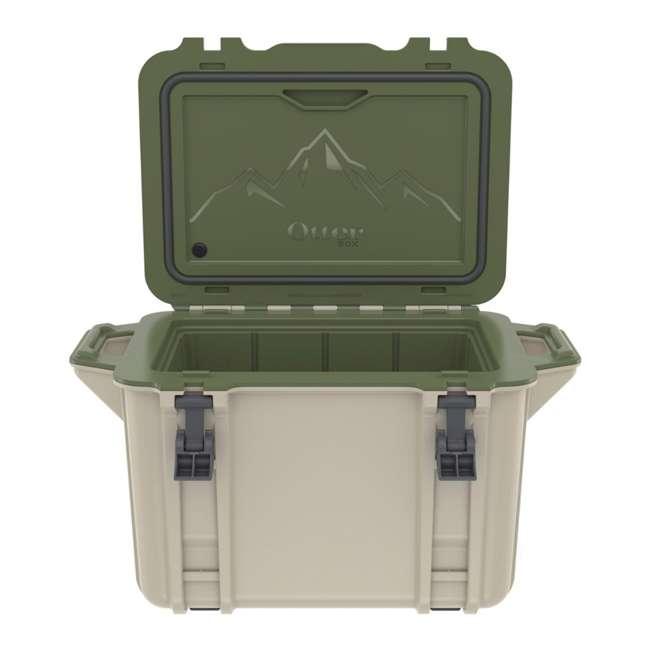77-54463 Otterbox Venture Heavy Duty Outdoor Camping Fishing Cooler 45-Quarts, Tan/Green 6