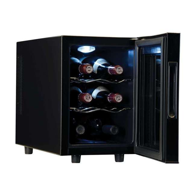 haier hvtec06abs thermoelectric 6 bottle wine cellar with. Black Bedroom Furniture Sets. Home Design Ideas