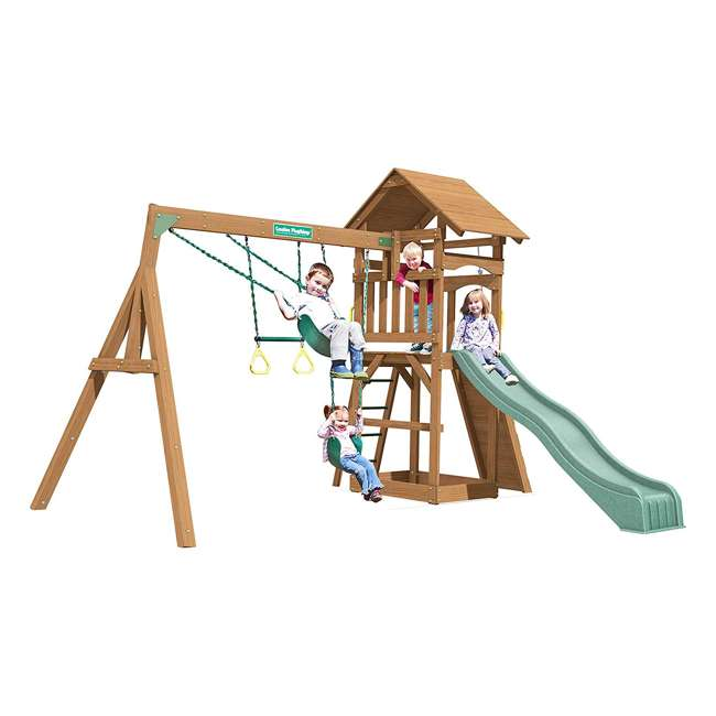 PS18RAL Creative Playthings PS18RAL Raleigh Kids Wooden Outdoor Swing Set Playground 1
