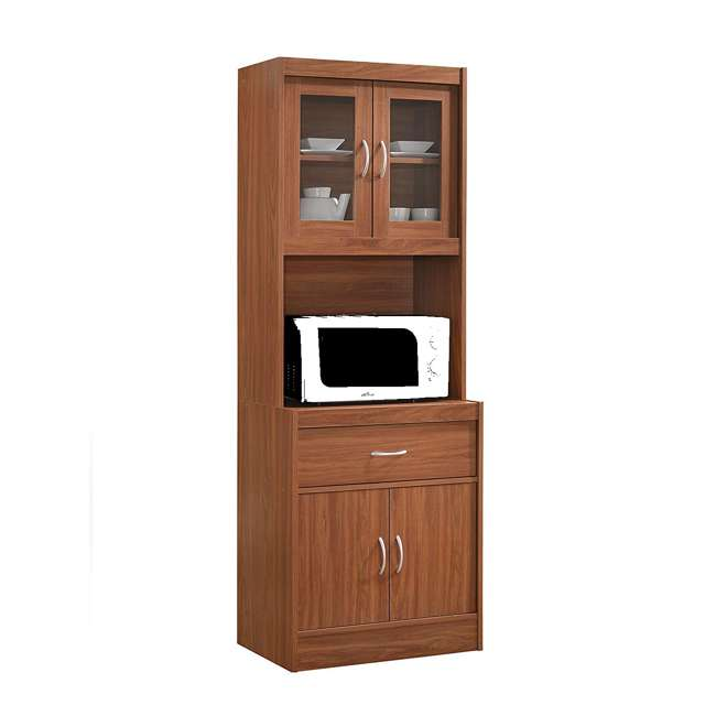 "HIKF96 CHERRY Hodedah Import 70"" Tall Top/Bottom Enclosed Kitchen Cabinet with Drawer, Cherry"