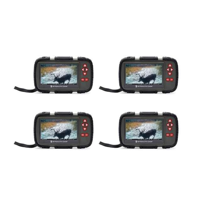 4 x STC-CRV43X Stealth Cam 4.3-Inch LCD Viewer & SD Card Reader (4 Pack)