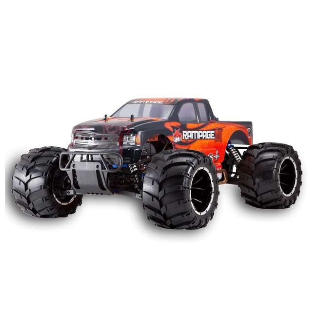 RAMPAGE-MT-V3-OF-U-C Redcat Racing Rampage MT V3 Gas Truck RC Truck, Orange/ Flame (For Parts)