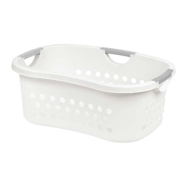 589132-3PK IRIS 589132 Comfort Carry White Plastic Lightweight Laundry Basket, Pack of 3 2