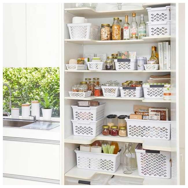 FBA32134 Ezy 32134 Medium Brickor Plastic Storage Household Organization Basket, White 2
