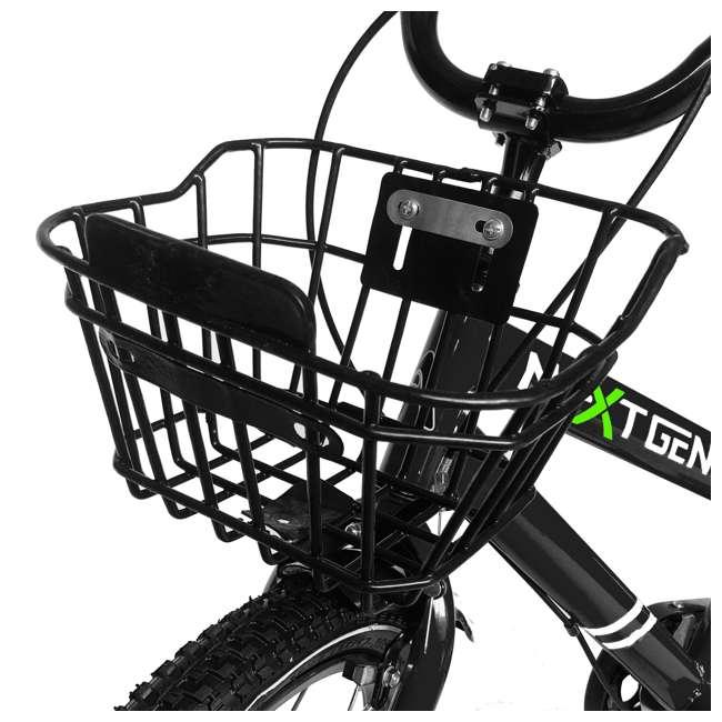 16BK-BLACK NextGen 16 Inch Childrens Kids Bike Bicycle with Training Wheels & Basket, Black 1