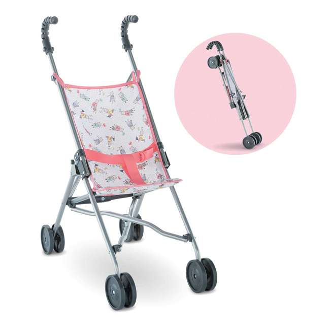 FRV17 Corolle Mon Grand Poupon Folding Toy Umbrella Stroller for Large Baby Dolls
