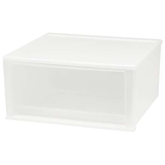 129873-4PK IRIS USA 7 Quart Hard Plastic Extra Large Stacking Tote Drawer, White, (8 Pack) 2