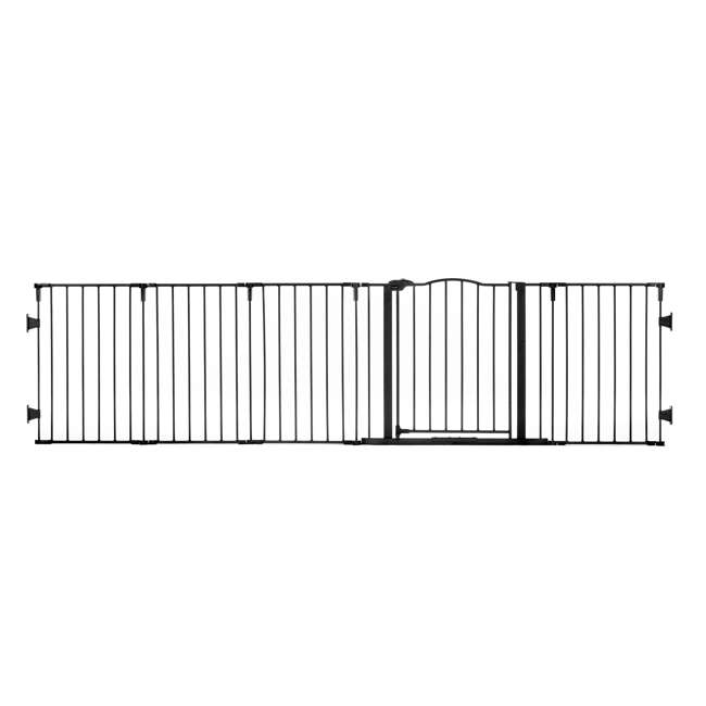 1176 Regalo Home Decor Super Wide Baby Gate, Black 1