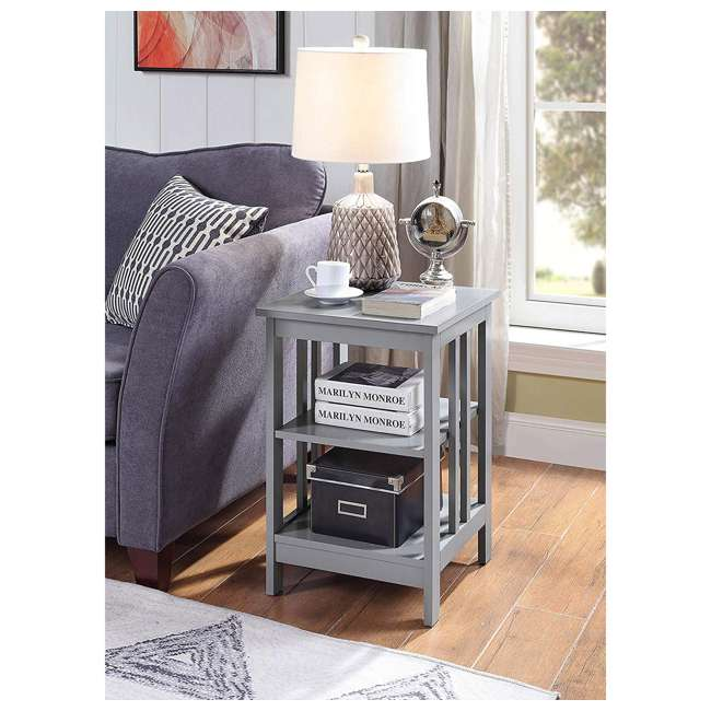 S20-250 OMA - Convenience Concepts 203385GY End Table, Gray 4