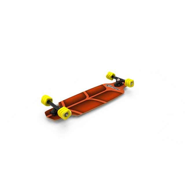 08217-SHARK Fathom by Shark Wheel Roam Mini Drop Longboard Complete, Teal 7