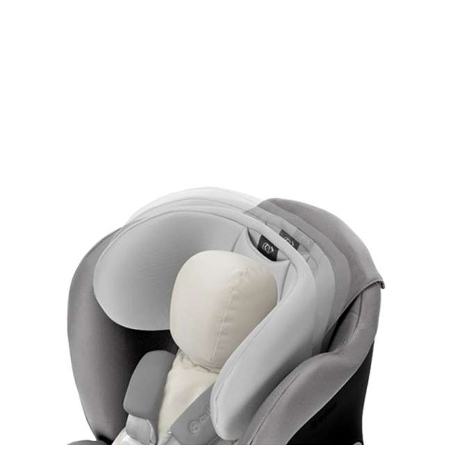 518002887 Cybex Gold Eternis S Convertible Infant Car Seat w/ SensorSafe, Pepper Black 4