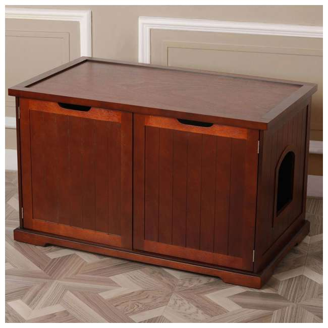 MPS012 Merry Products Cat Washroom Bench, Walnut 4