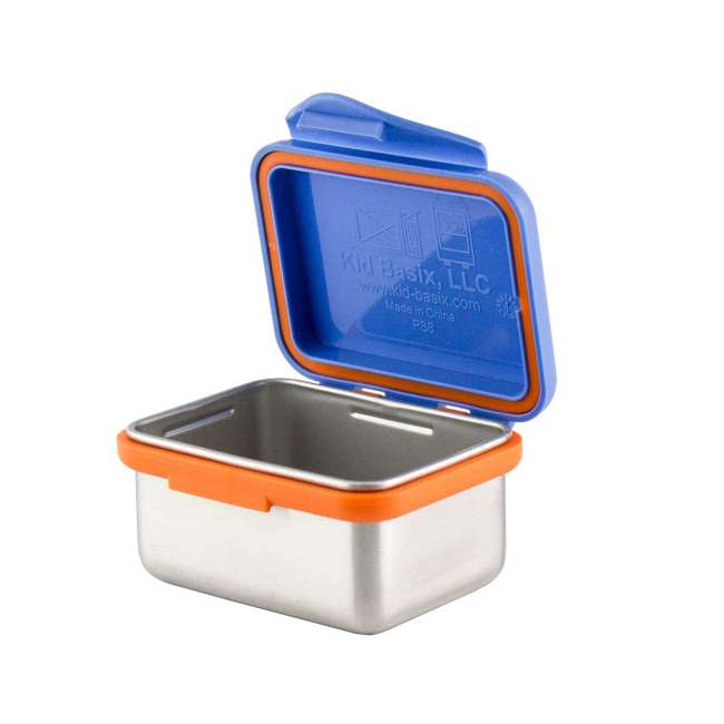 894148002954 + 894148002961 Kid Basix Safe Snacker 7 Ounce Stainless Steel Lunch Box, Blue and Fushia 1