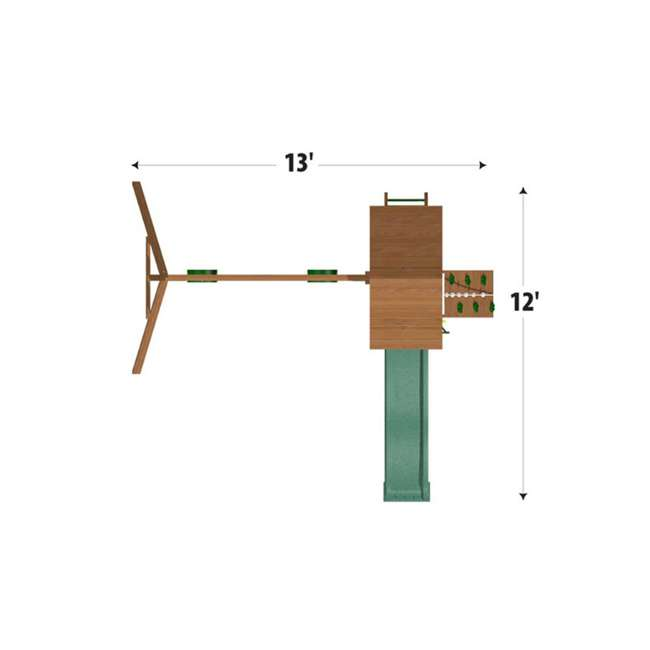 PS18RAL Creative Playthings PS18RAL Raleigh Kids Wooden Outdoor Swing Set Playground 3
