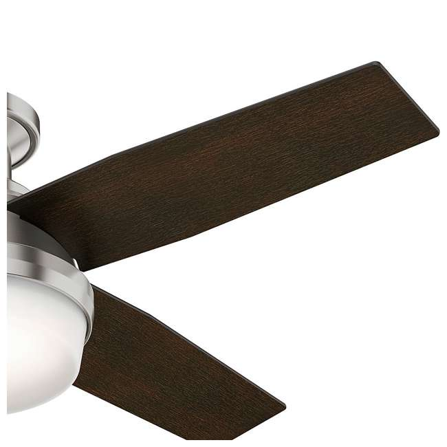 59243-U-B Hunter 44 Inch Dempsey Low Profile Brushed Nickel Ceiling Fan (Used) 3