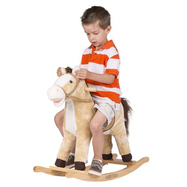 5-20401M-U-A Rockin' Rider Animated Toddler Toy Rocking Riding Sit On Plush Horse (Open Box) 5