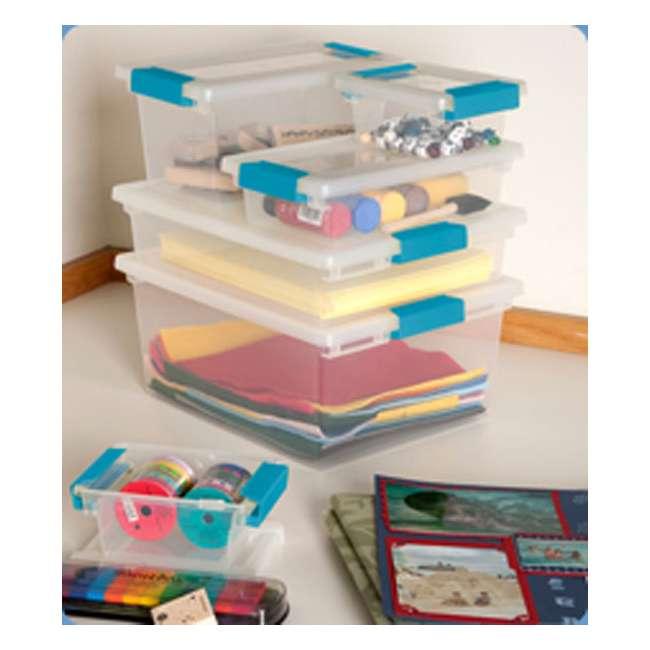 40 x 19628604-U-A Sterilite Medium Clip Box Clear Storage Tote Container (Open Box) (40 Pack) 1