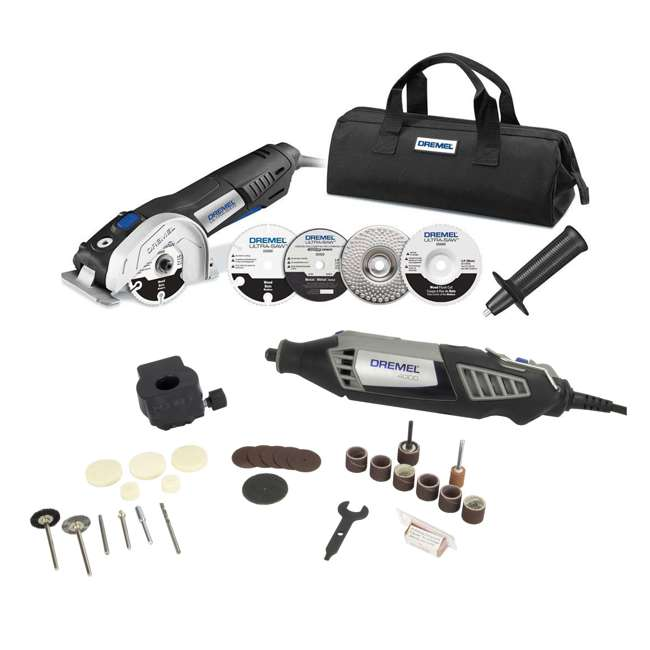 4000-DR-RT-RB + US40-DR-RT-RB Dremel Rotary Kit & Ultra Saw Kit (Certified Refurbished)