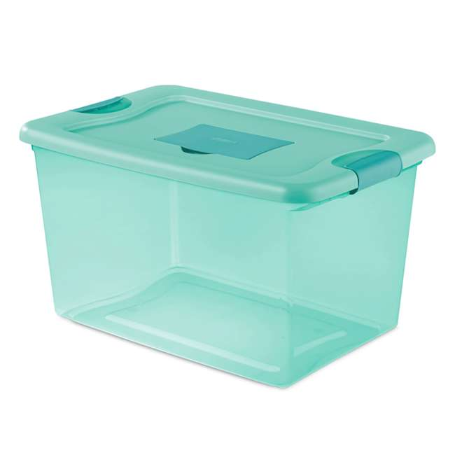 12 x 15077Y06-U-A Sterilite 64 Quart Fresh Scent Stackable Plastic Storage Box (Open Box)(12 Pack) 1
