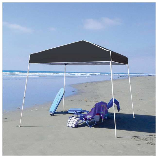 ZSB10INSTBK-PB-U-A Z-Shade 10' x 10' Angled Leg Instant Shade Canopy Tent Shelter, Black (Open Box) 1
