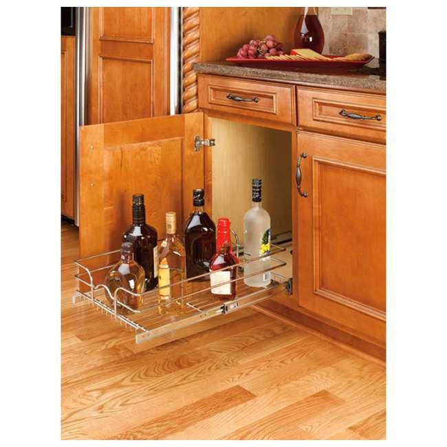 5WB1-1522-CR Rev-A-Shelf 5WB1-1522-CR 22 Inch Base Cabinet Pullout Single Wire Sink Basket 2